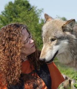Scotti with a wolf called Wotan