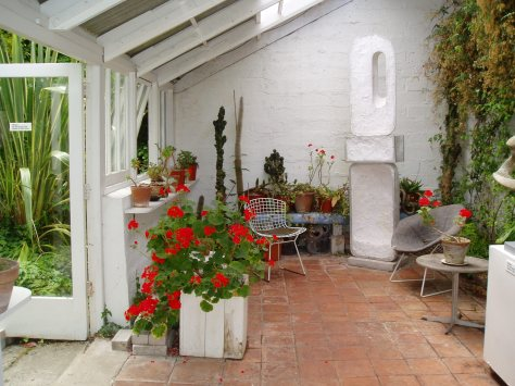 Gorgeous geraniums in Barbara Hepworth's garden in St Ives
