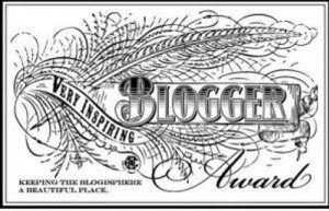 The very beautiful very inspiring blog award