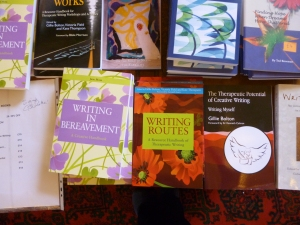 Some of the wonderful books on offer at the Lapidus conference