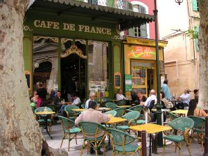 Al fresco cafes - this is nice, right?