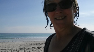 Swimming selfie in Tiree