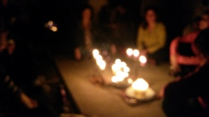 Chanting by candlelight