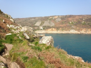 The coast at Lamorna, close to the Writing Retreat at Rosemerryn