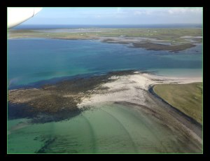 The flight to North Ronaldsay, Orkney
