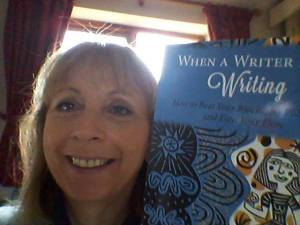A lovely selfie via fb from a friend who has just bought my book